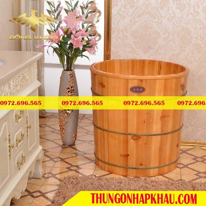 Bồn tắm gỗ tròn 2020